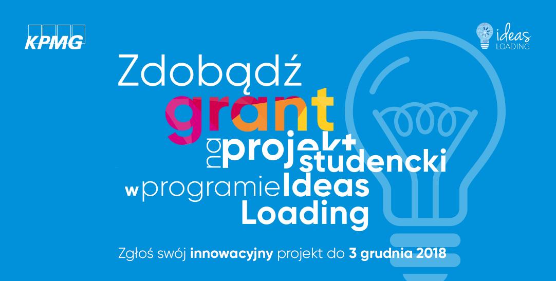 Grant na projekt studencki w programie KPMG IDEAS LOADING