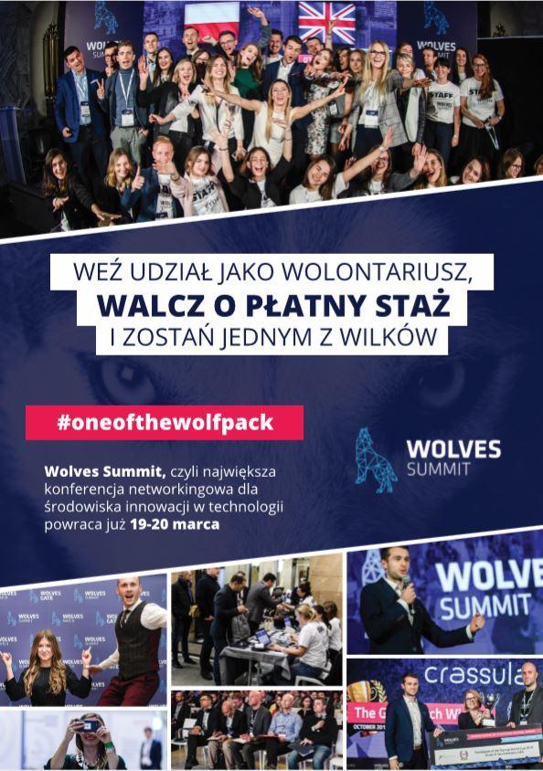 Walcz o staż i uczestnictwo w konferencji WOLVES SUMMIT - zostań wolontariuszem
