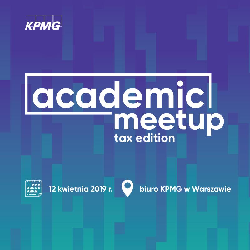 Ogólnopolski academic meetup – tax edition!