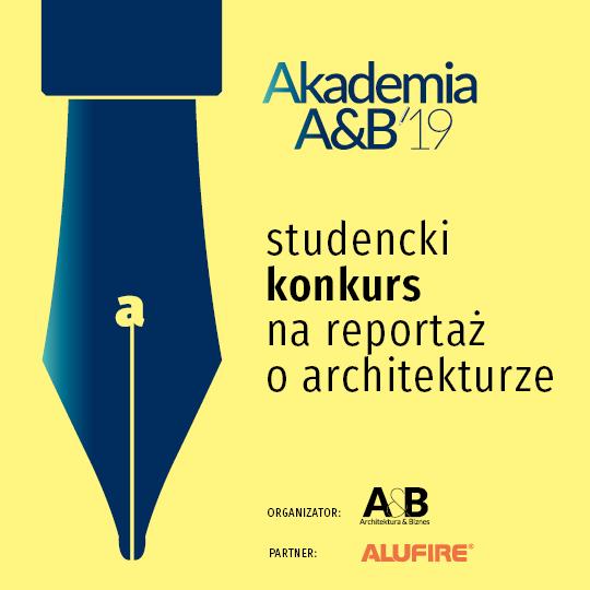 Studencki konkurs na reportaż prasowy o architekturze