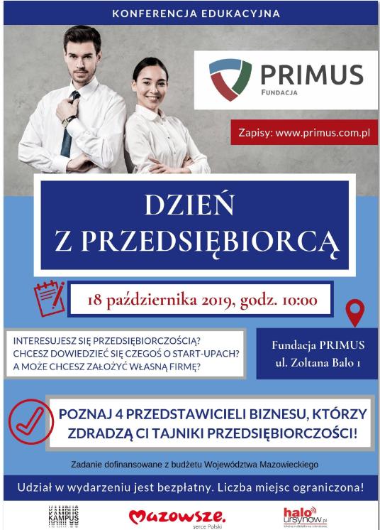 Konferencja Edukacyjna - Dzień z Przedsiębiorcą!