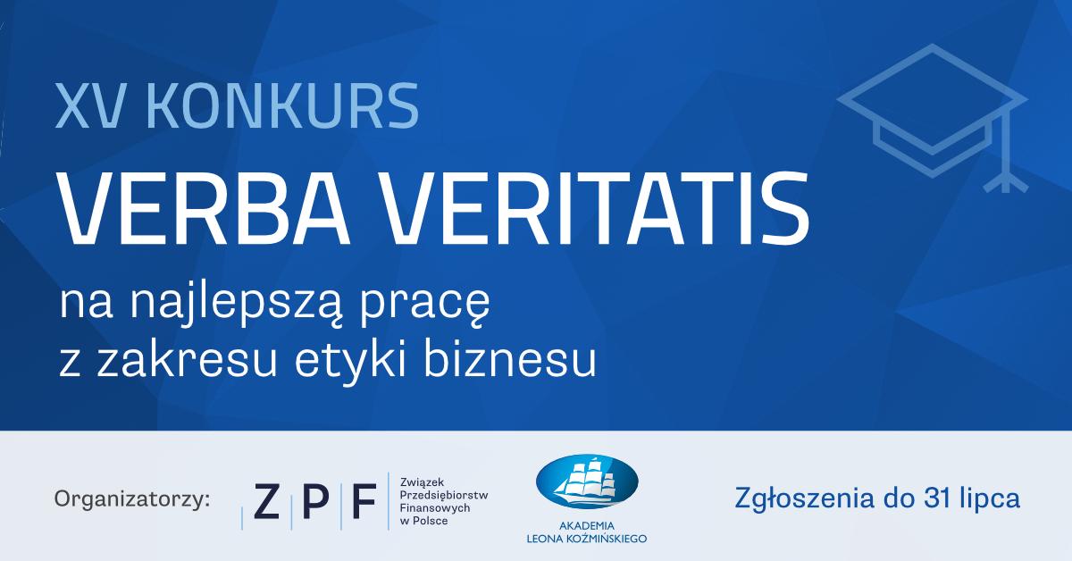 XV Konkurs VERBA VERITATIS na najlepszą pracę z zakresu etyki biznesu
