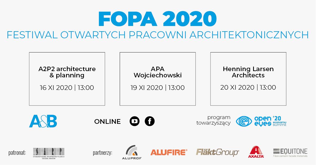 Festiwal Otwartych Pracowni Architektonicznych FOPA (online)