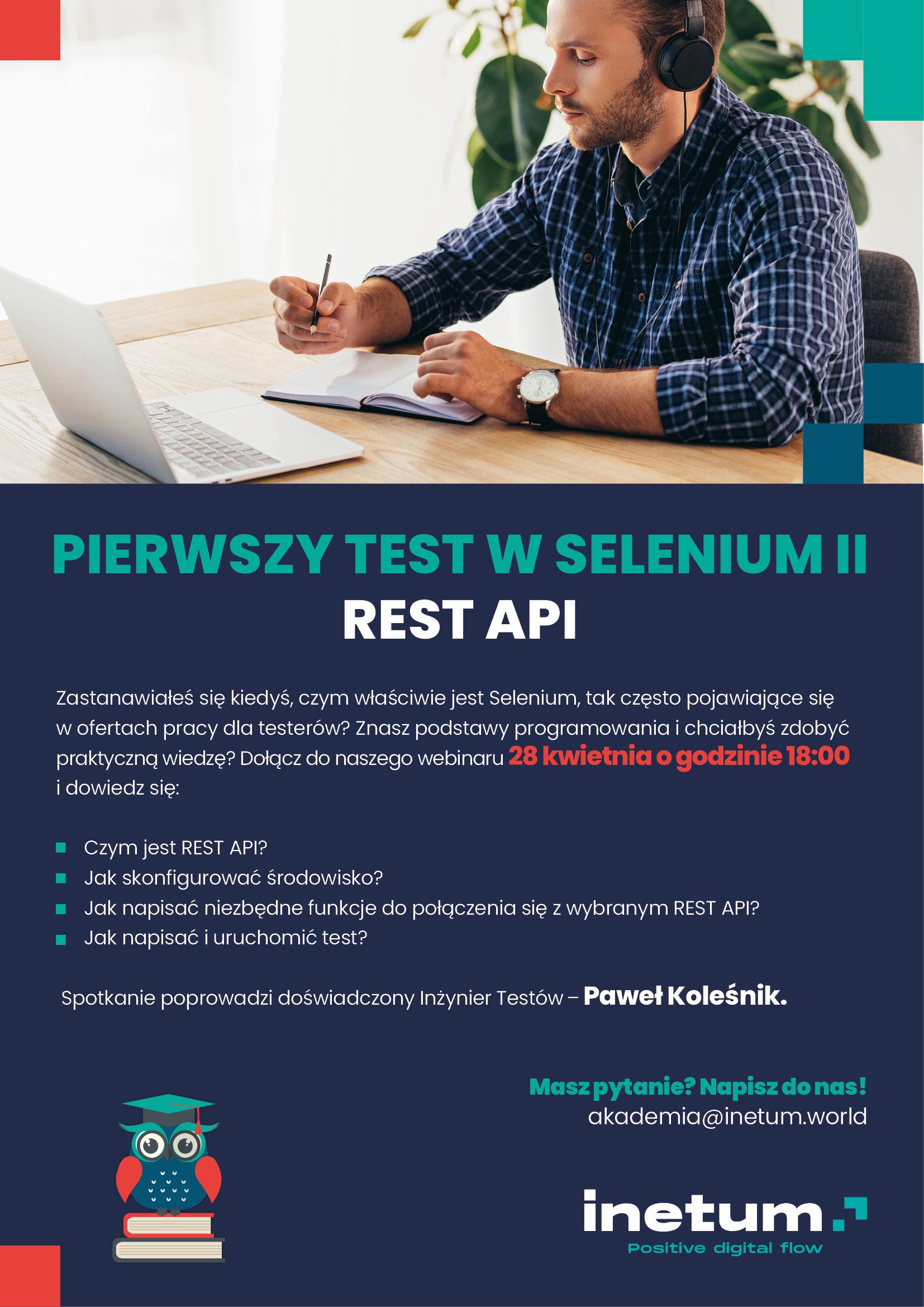 Webinar dla studentów organizowany przez Inetum
