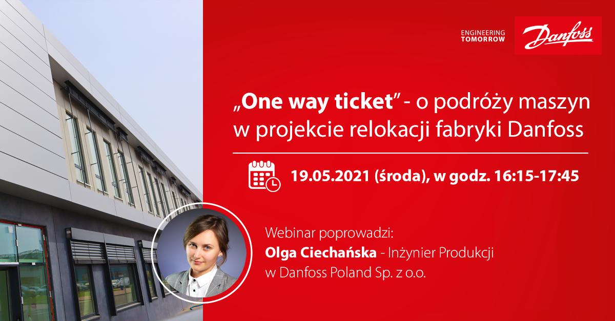 """""""One way ticket"""" - o podróży maszyn w projekcie relokacji fabryki Danfoss"""