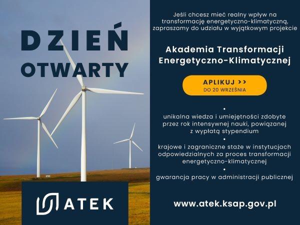 Zapraszamy do udziału w Akademii Transformacji Energetyczno-Klimatycznej (ATEK)