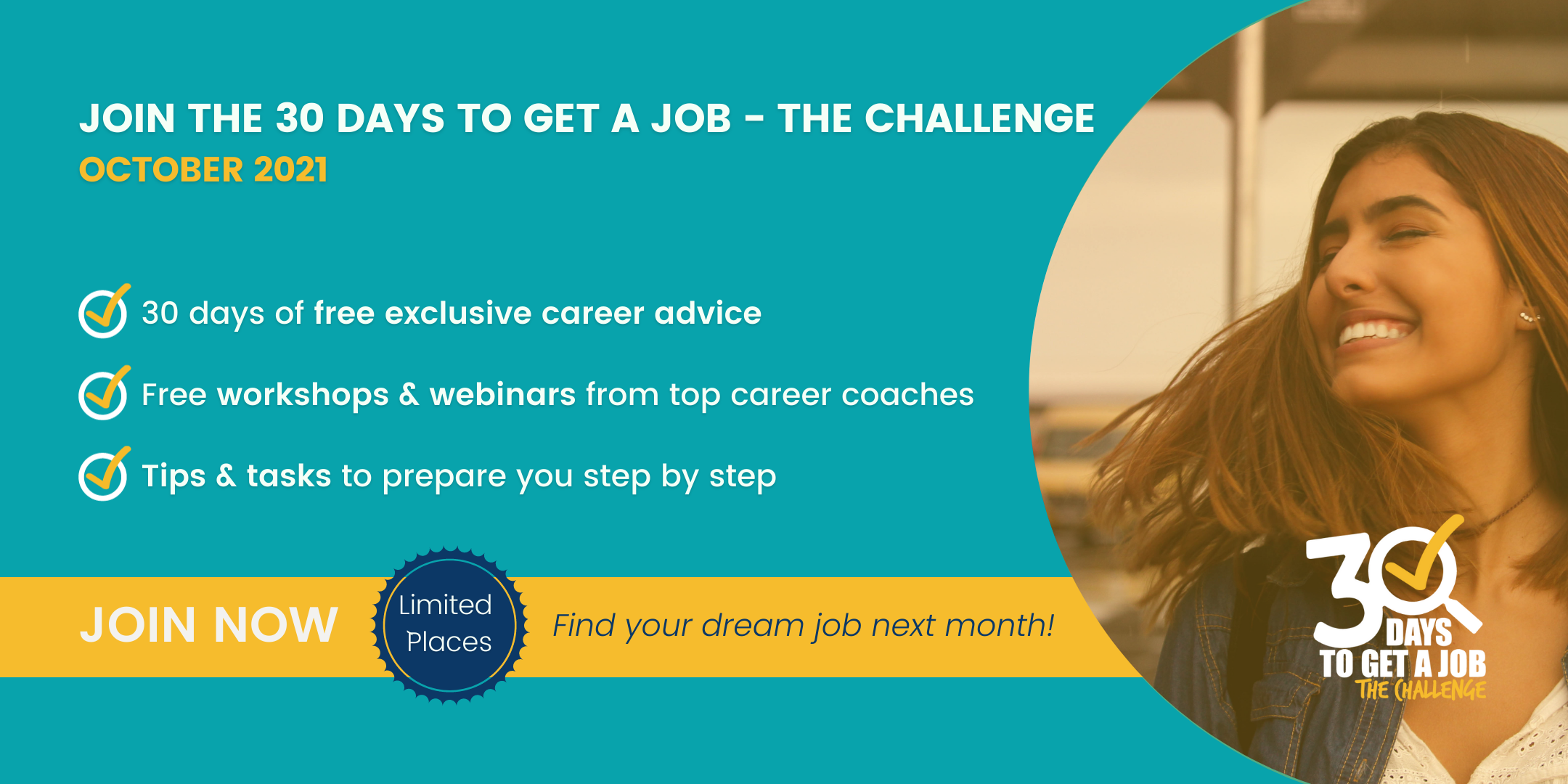 The 6th edition of the 30 Days to Get a Job - The Challenge