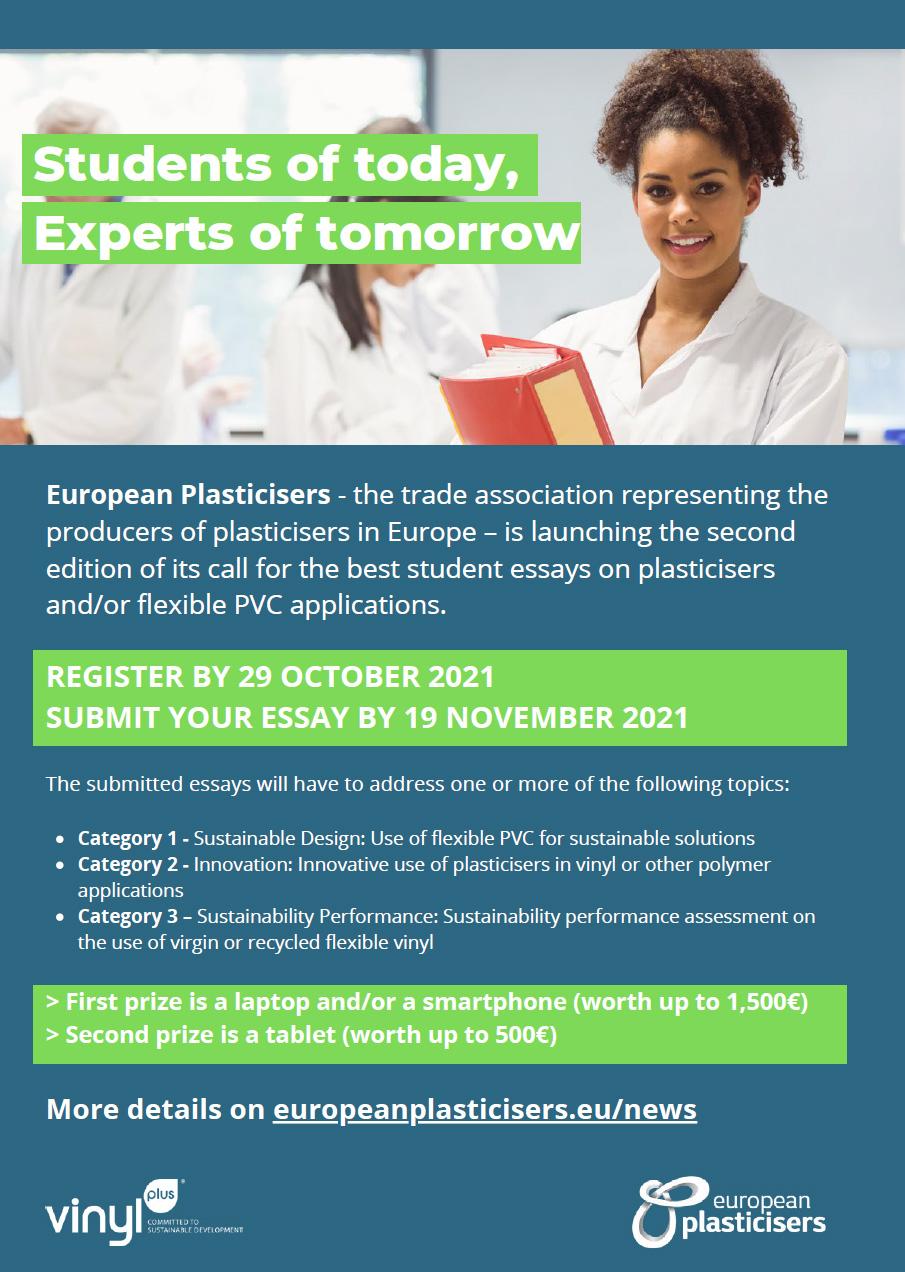 Napisz esej o plastyfikatorach i wygraj sprzęt elektroniczny! Konkurs European Plasticisers dla studentów